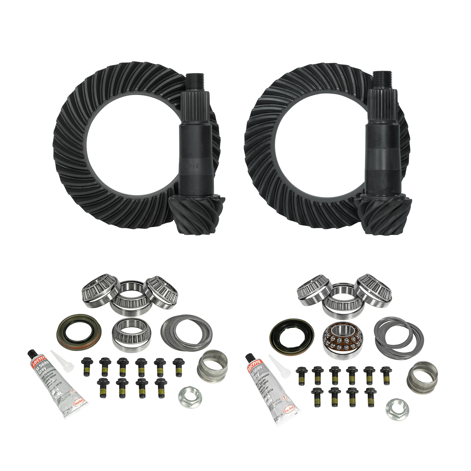 YGK070 - Yukon Complete Gear and Kit Pakage for JL and JT Jeep Rubicon, D44 Rear & D44 Front, 5:38 Gear Ratio