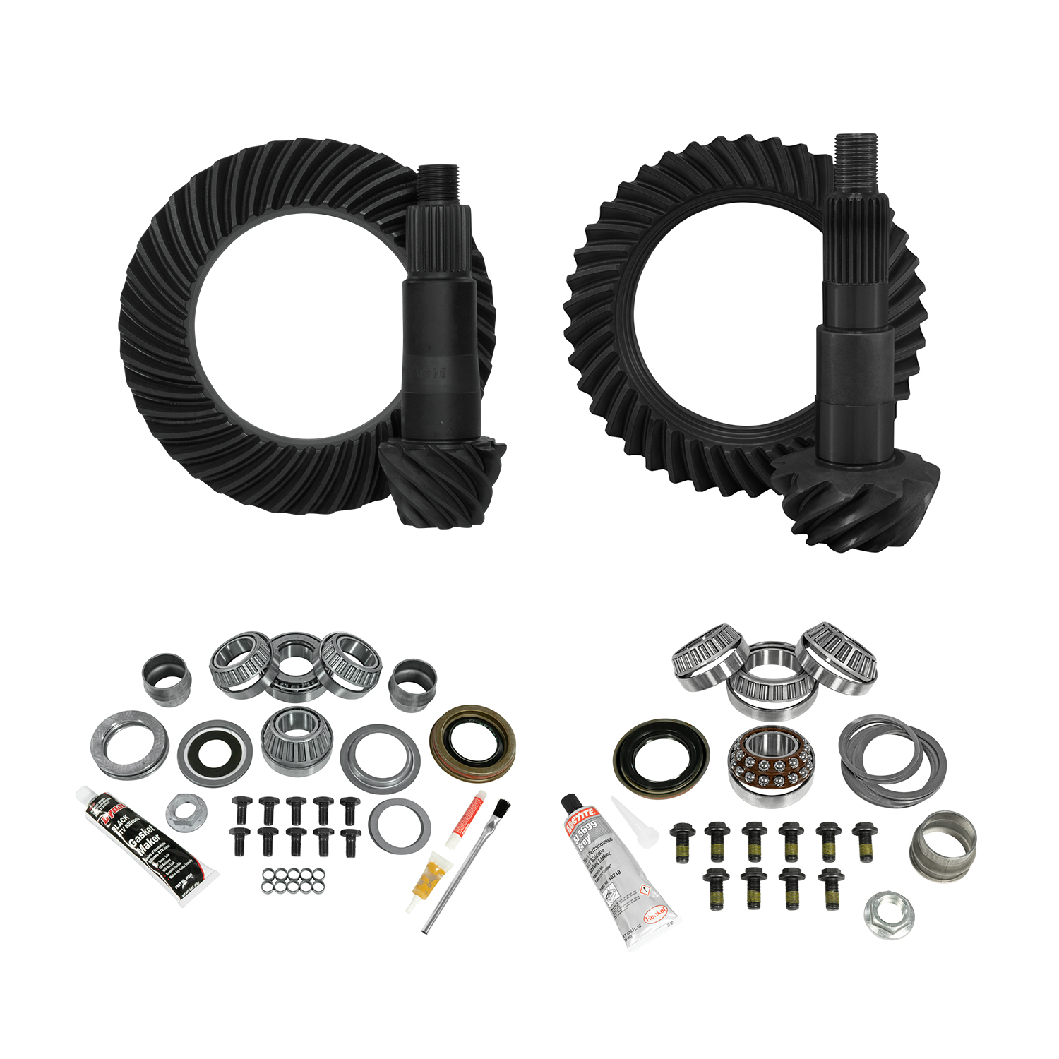 YGK076 - Yukon Complete Gear and Kit Pakage for JL Jeep Non-Rubicon, D44 Rear & D30 Front, 3:73 Gear Ratio