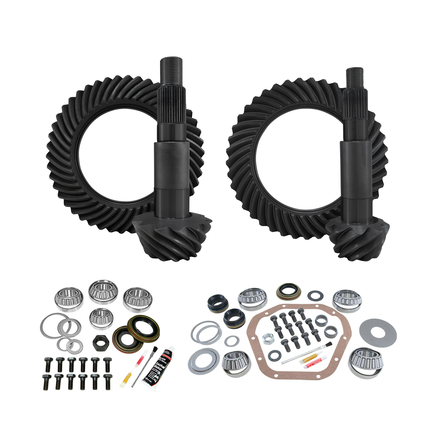 YGK148 - Yukon Complete Gear and Kit Pakage for F350 Dana 80 Rear & Dana 60 Reverse Thick Front, with 4:56 Gear Ratio